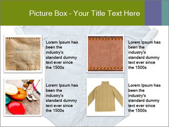 Blue jean shirt PowerPoint Template - Slide 14