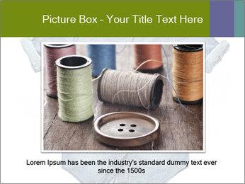 Blue jean shirt PowerPoint Template - Slide 15