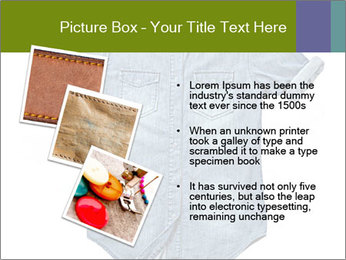 Blue jean shirt PowerPoint Template - Slide 17