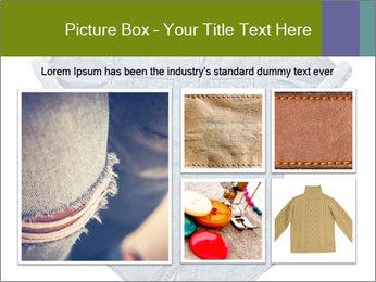 Blue jean shirt PowerPoint Template - Slide 19