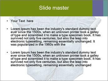 Blue jean shirt PowerPoint Template - Slide 2