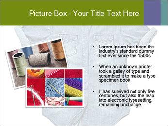 Blue jean shirt PowerPoint Template - Slide 20