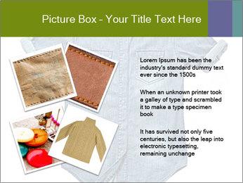 Blue jean shirt PowerPoint Template - Slide 23