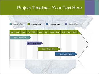 Blue jean shirt PowerPoint Template - Slide 25