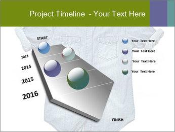 Blue jean shirt PowerPoint Template - Slide 26