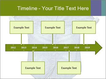 Blue jean shirt PowerPoint Template - Slide 28