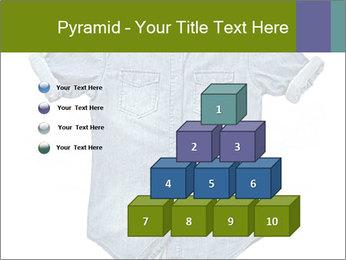 Blue jean shirt PowerPoint Template - Slide 31