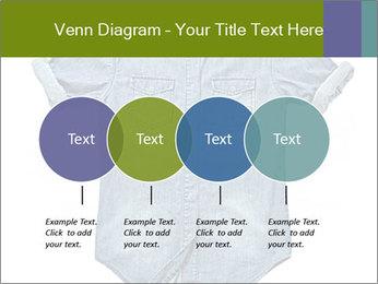 Blue jean shirt PowerPoint Template - Slide 32