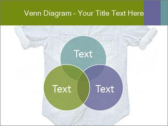 Blue jean shirt PowerPoint Template - Slide 33