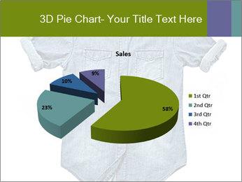 Blue jean shirt PowerPoint Template - Slide 35