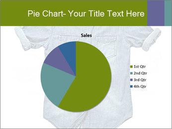 Blue jean shirt PowerPoint Template - Slide 36