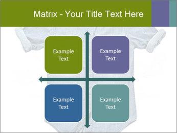 Blue jean shirt PowerPoint Template - Slide 37