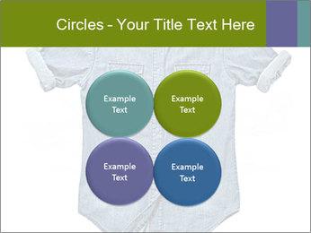 Blue jean shirt PowerPoint Template - Slide 38