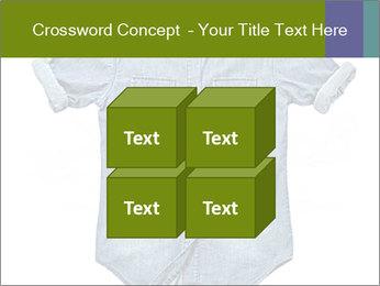 Blue jean shirt PowerPoint Template - Slide 39
