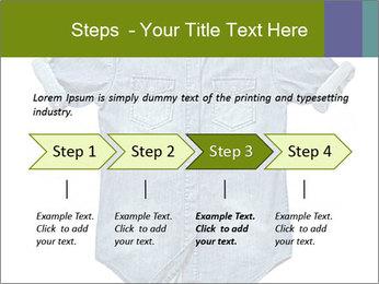 Blue jean shirt PowerPoint Template - Slide 4