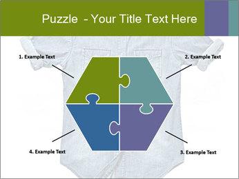 Blue jean shirt PowerPoint Template - Slide 40