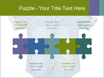 Blue jean shirt PowerPoint Template - Slide 41
