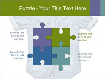 Blue jean shirt PowerPoint Template - Slide 43