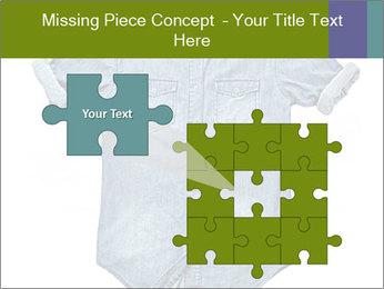 Blue jean shirt PowerPoint Template - Slide 45