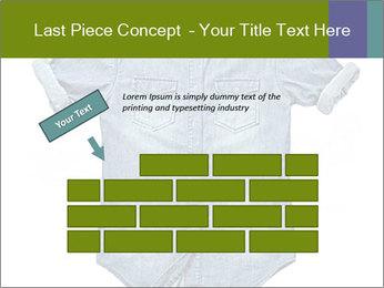 Blue jean shirt PowerPoint Template - Slide 46