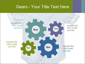 Blue jean shirt PowerPoint Template - Slide 47