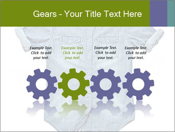 Blue jean shirt PowerPoint Template - Slide 48