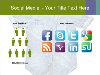 Blue jean shirt PowerPoint Template - Slide 5