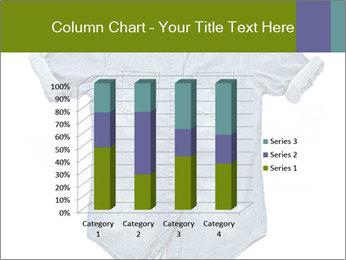 Blue jean shirt PowerPoint Template - Slide 50