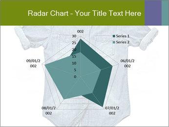Blue jean shirt PowerPoint Template - Slide 51