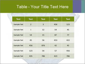 Blue jean shirt PowerPoint Template - Slide 55