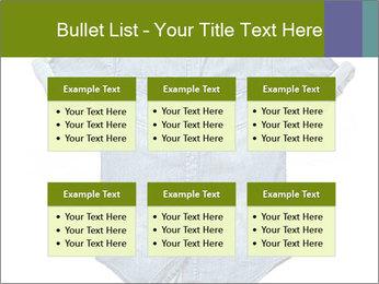 Blue jean shirt PowerPoint Template - Slide 56