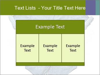 Blue jean shirt PowerPoint Template - Slide 59
