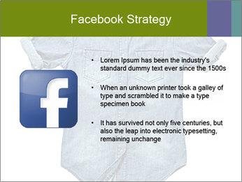 Blue jean shirt PowerPoint Template - Slide 6