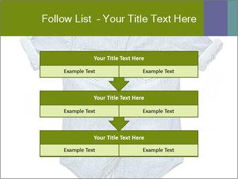 Blue jean shirt PowerPoint Template - Slide 60
