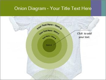 Blue jean shirt PowerPoint Template - Slide 61