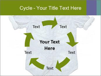 Blue jean shirt PowerPoint Template - Slide 62