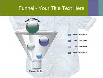 Blue jean shirt PowerPoint Template - Slide 63