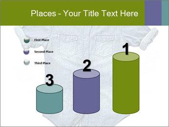 Blue jean shirt PowerPoint Template - Slide 65