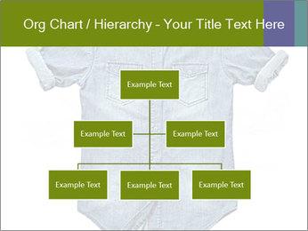 Blue jean shirt PowerPoint Template - Slide 66