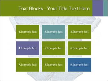 Blue jean shirt PowerPoint Template - Slide 68