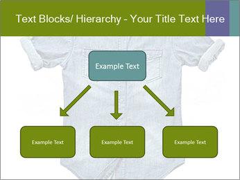 Blue jean shirt PowerPoint Template - Slide 69