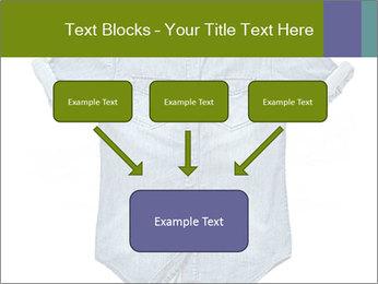 Blue jean shirt PowerPoint Template - Slide 70