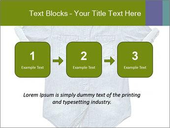 Blue jean shirt PowerPoint Template - Slide 71