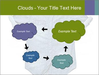 Blue jean shirt PowerPoint Template - Slide 72