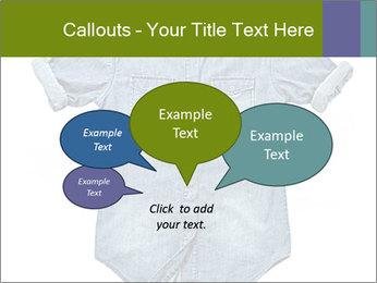 Blue jean shirt PowerPoint Template - Slide 73