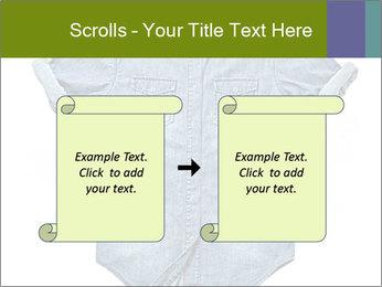 Blue jean shirt PowerPoint Template - Slide 74
