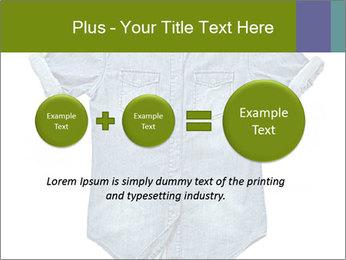 Blue jean shirt PowerPoint Template - Slide 75