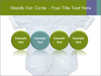 Blue jean shirt PowerPoint Template - Slide 76