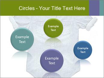 Blue jean shirt PowerPoint Template - Slide 77