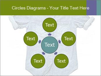 Blue jean shirt PowerPoint Template - Slide 78
